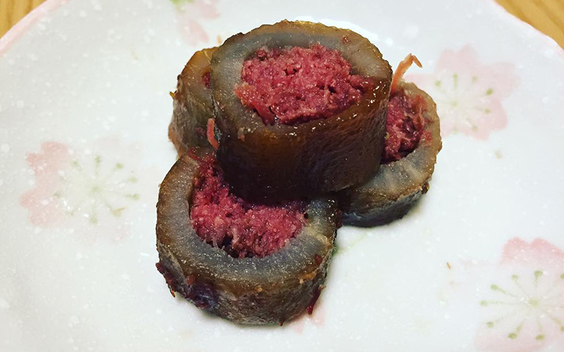 料理写真:太ゴボウのコンビーフ詰め