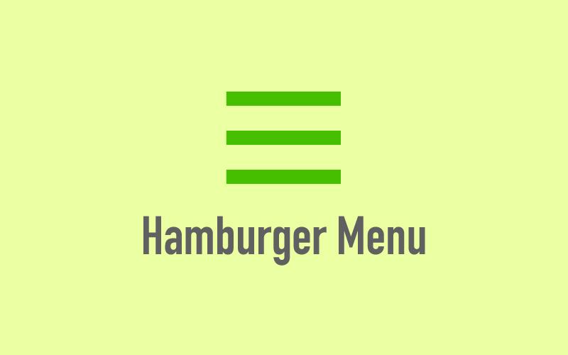イラスト:ハンバーガーメニュー