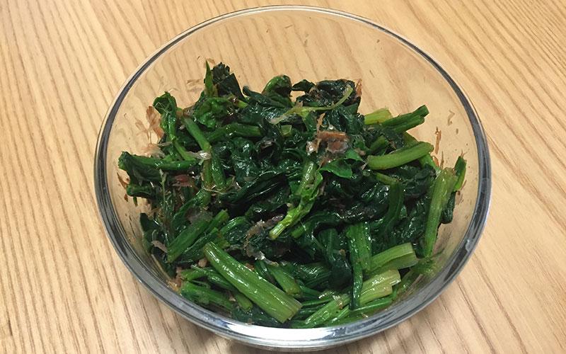 「ほうれん草のかつおぶし和え」我が家の作り置き&弁当レシピ
